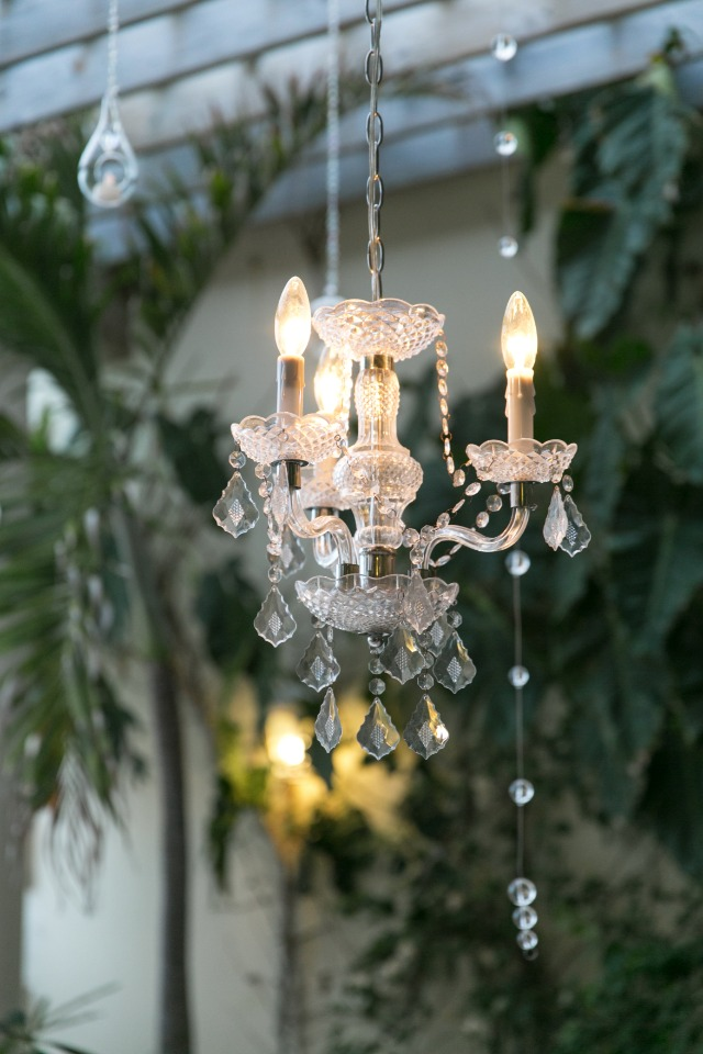 mini crystal chandeliere
