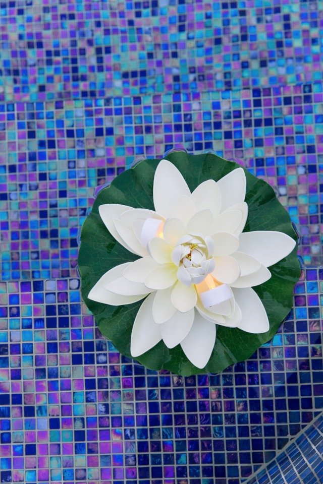 floating faux lilies for your pool