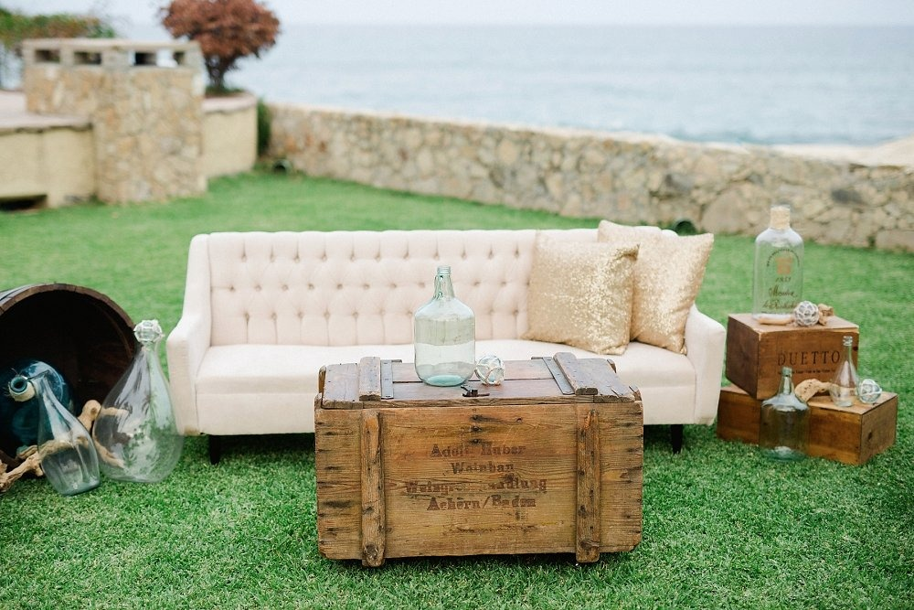 Chic lounge area for wedding