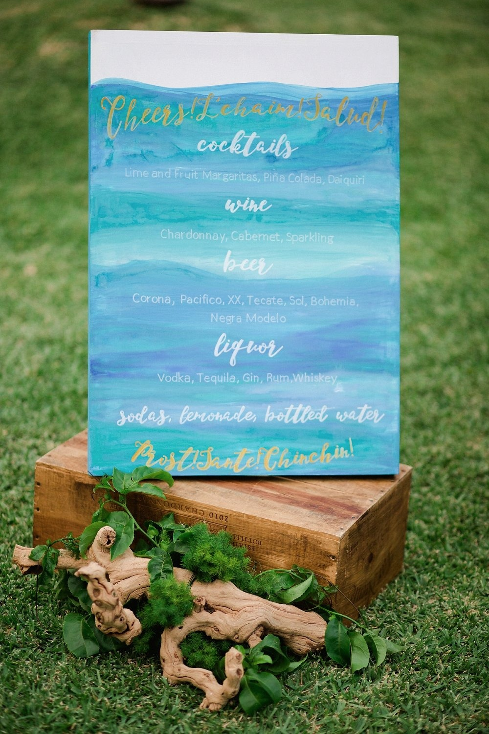 Water color bar menu