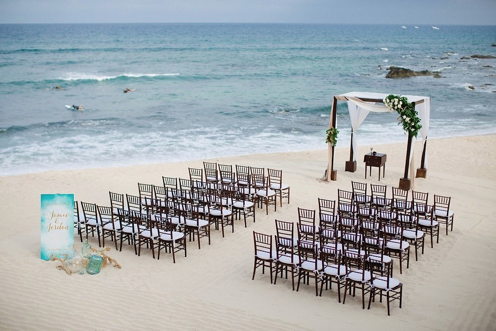 Seaside beach wedding in Cabo