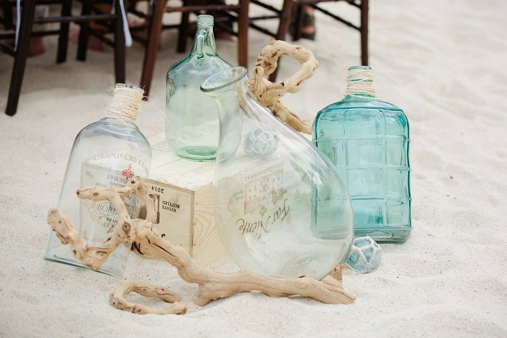 Sea inspired ceremony decor