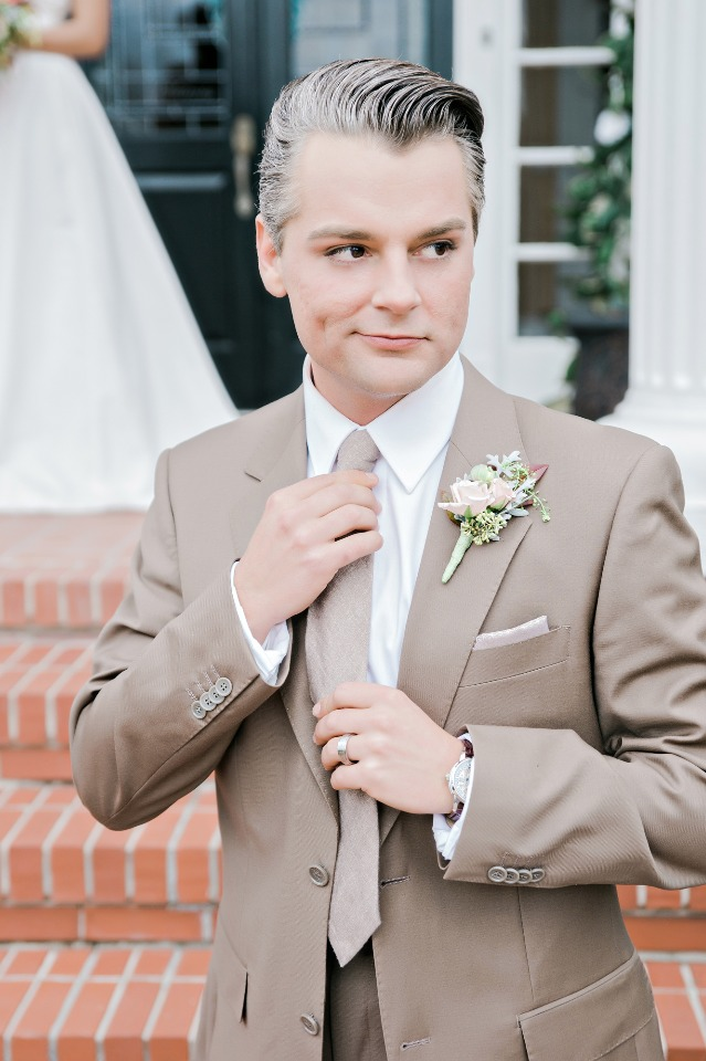 neutral suit for your groom