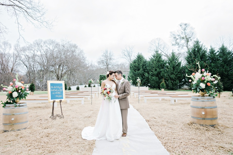late fall outdoor wedding ceremony