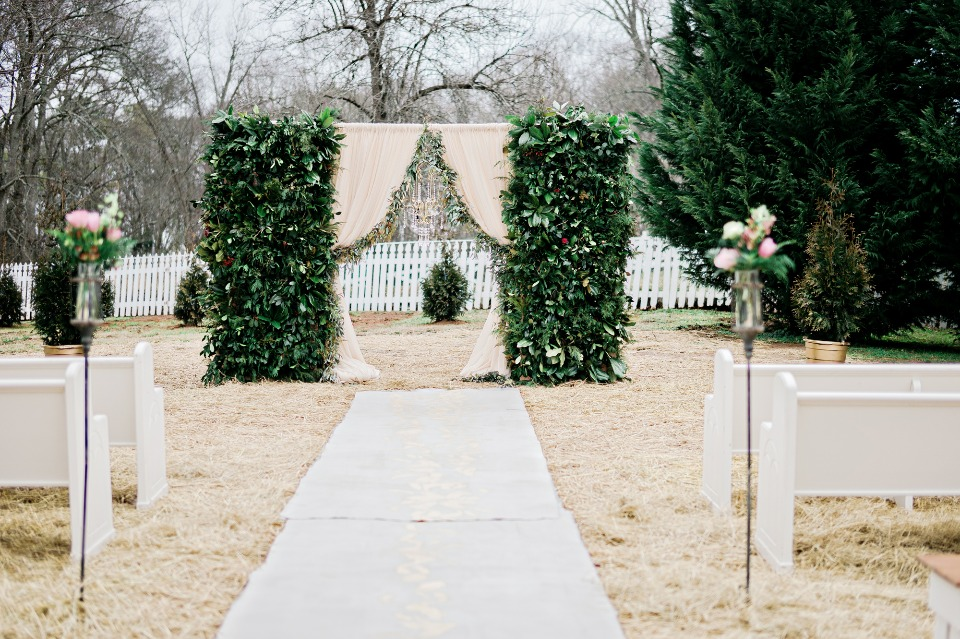 ivy overgrown wedding arch