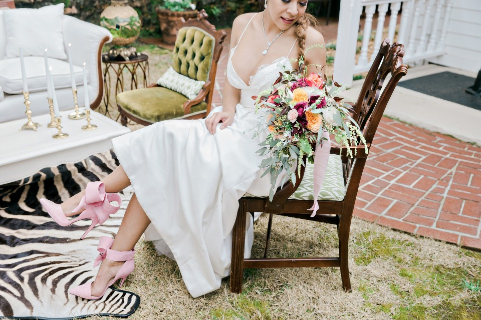 romantic and alternative wedding style