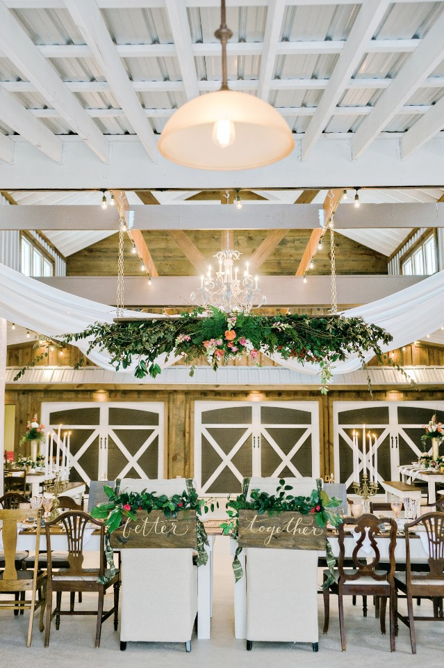 glam barn wedding reception