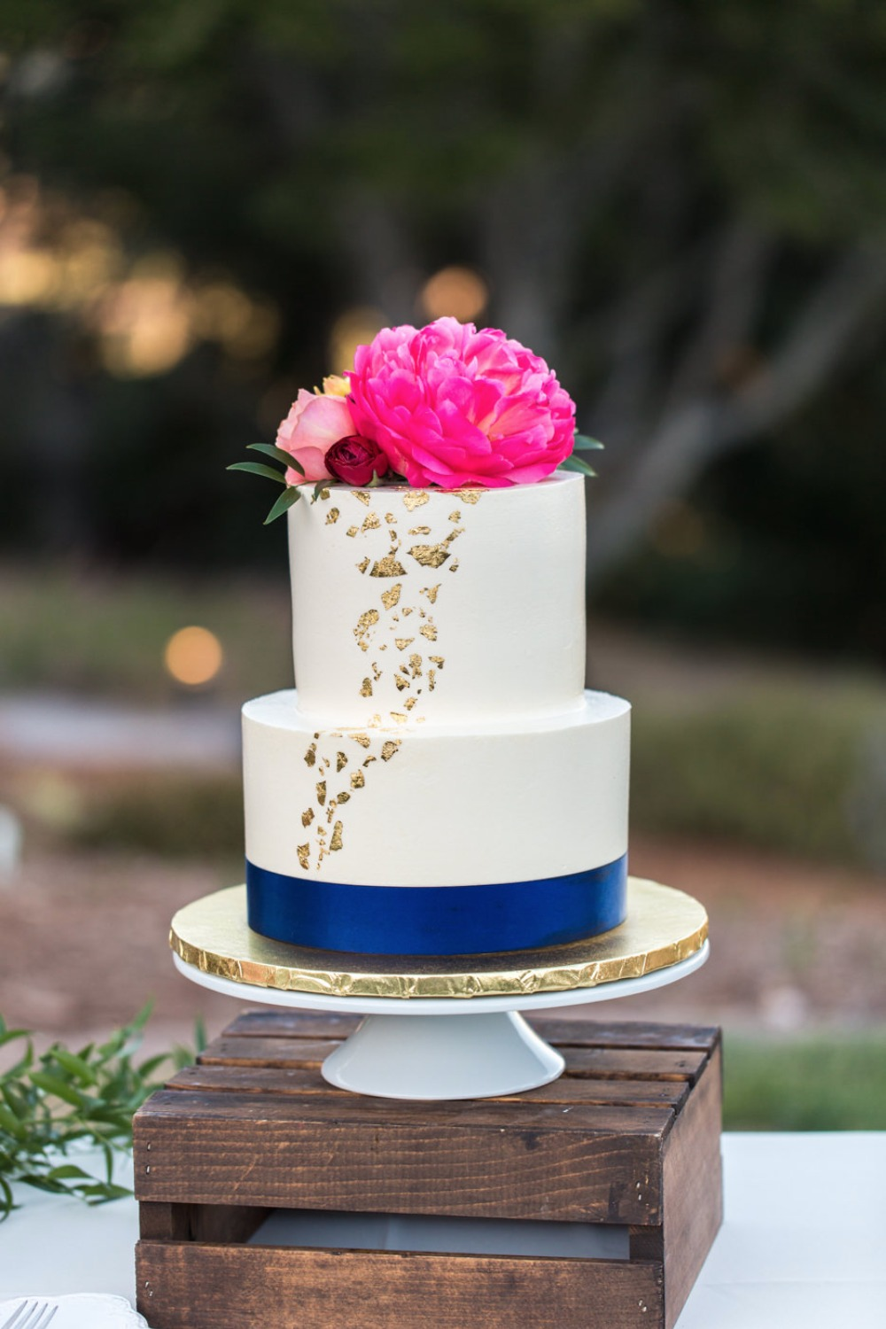 Elegant two tier cake