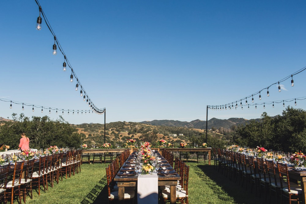 Outdoor reception in California