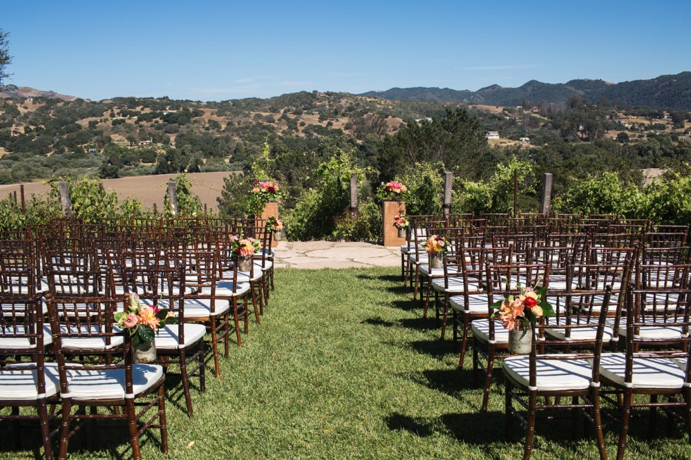 Pretty outdoor ceremony