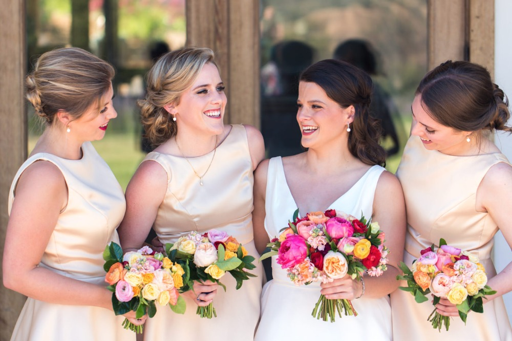 Satin bridesmaid dresses