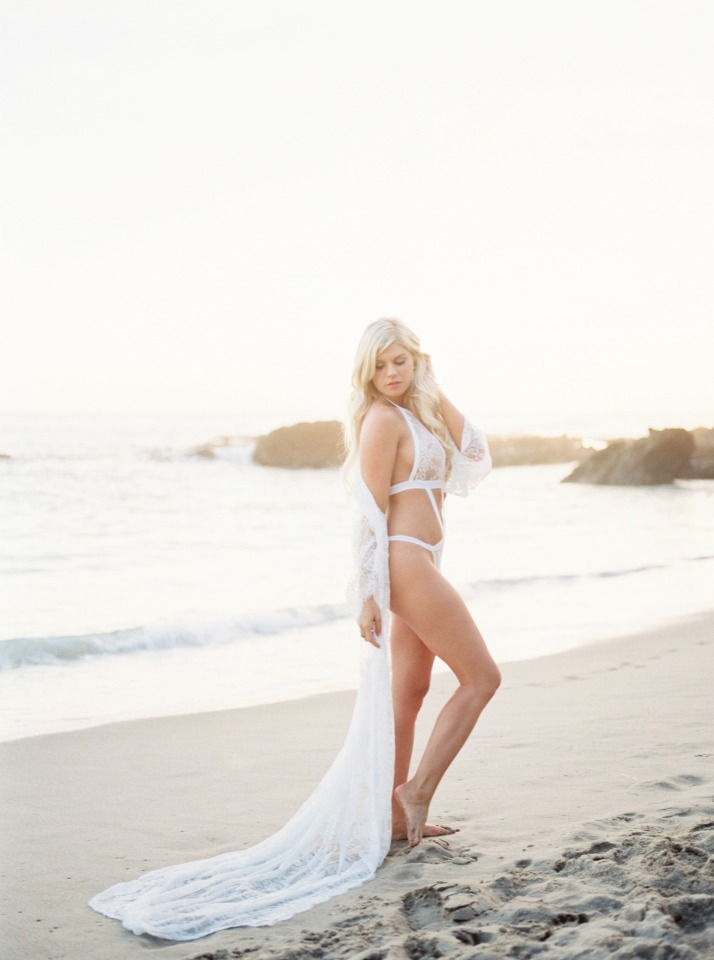 white monokini on the beach