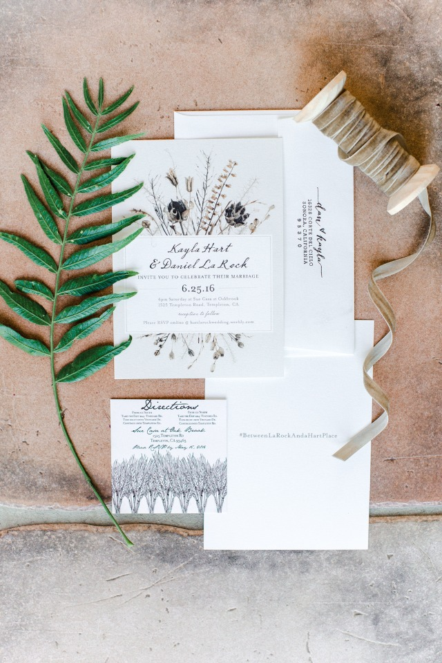 organic wedding invitations from Minted