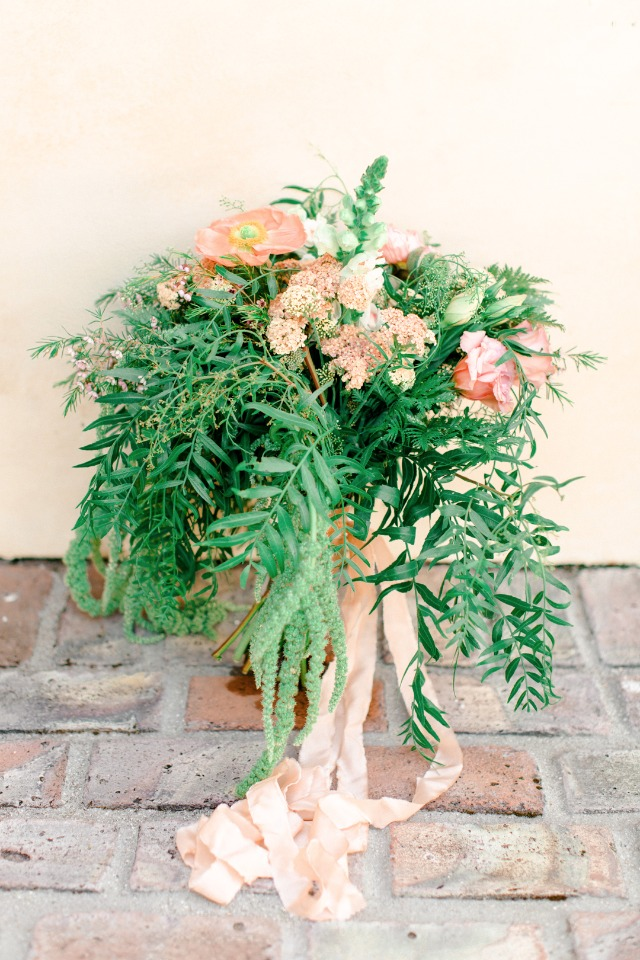 over grown style bouquet