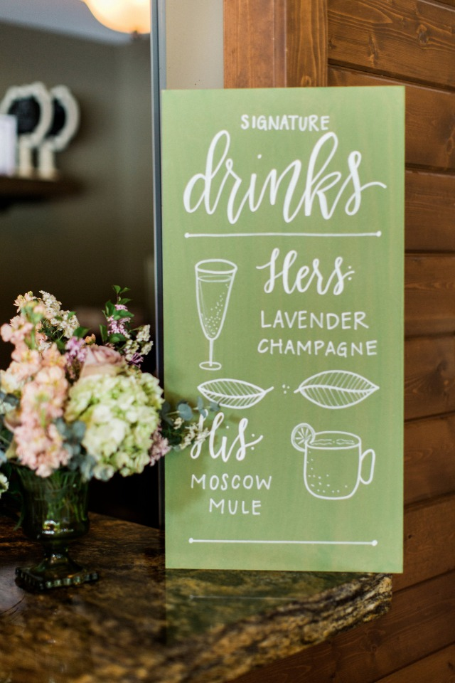 wedding drinks menu
