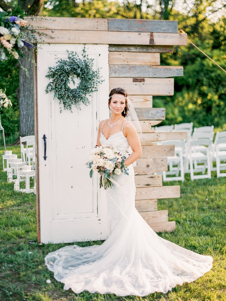 bride in Enzoani wedding gown