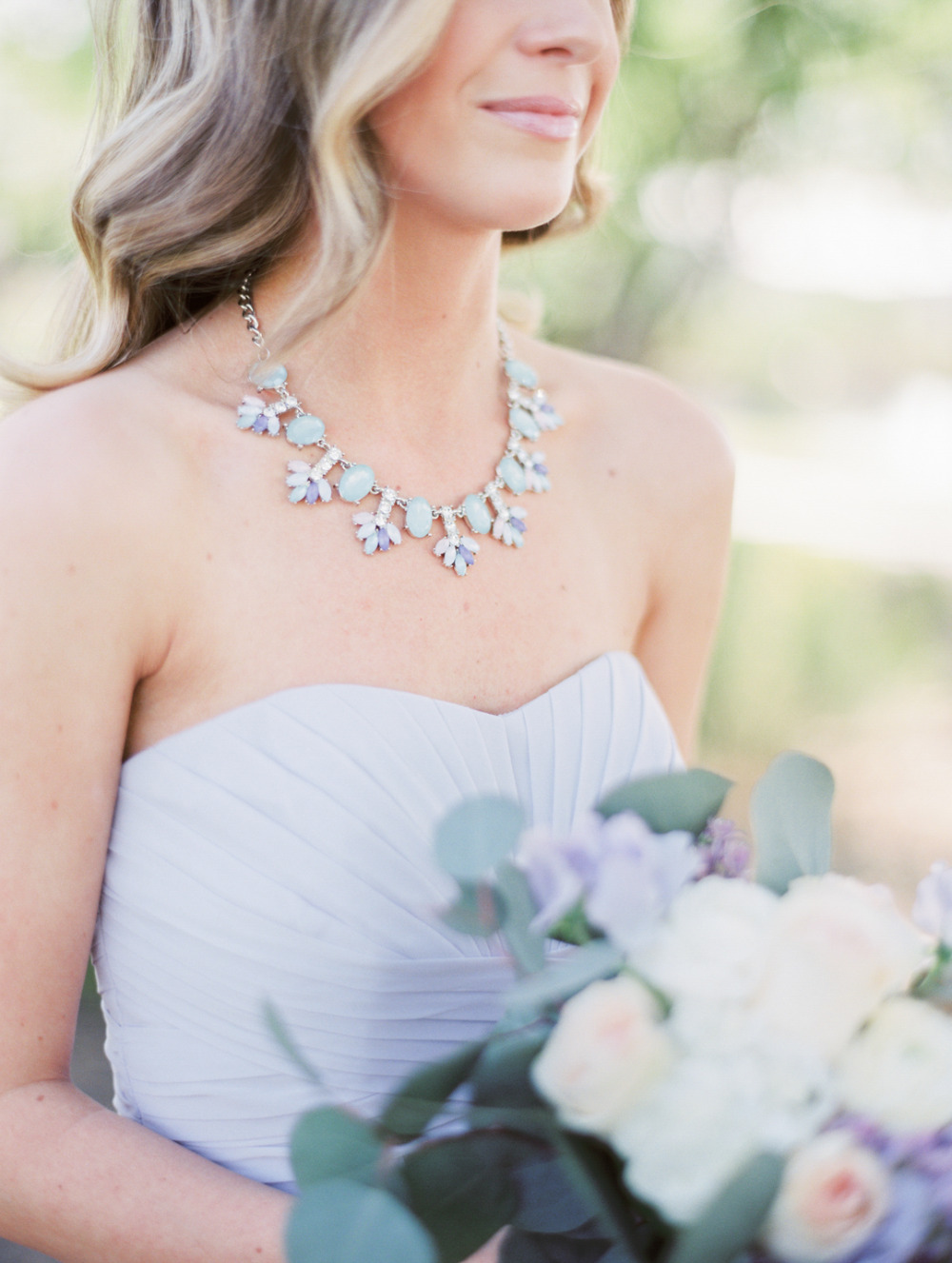 lovely pastel bridesmaids necklace