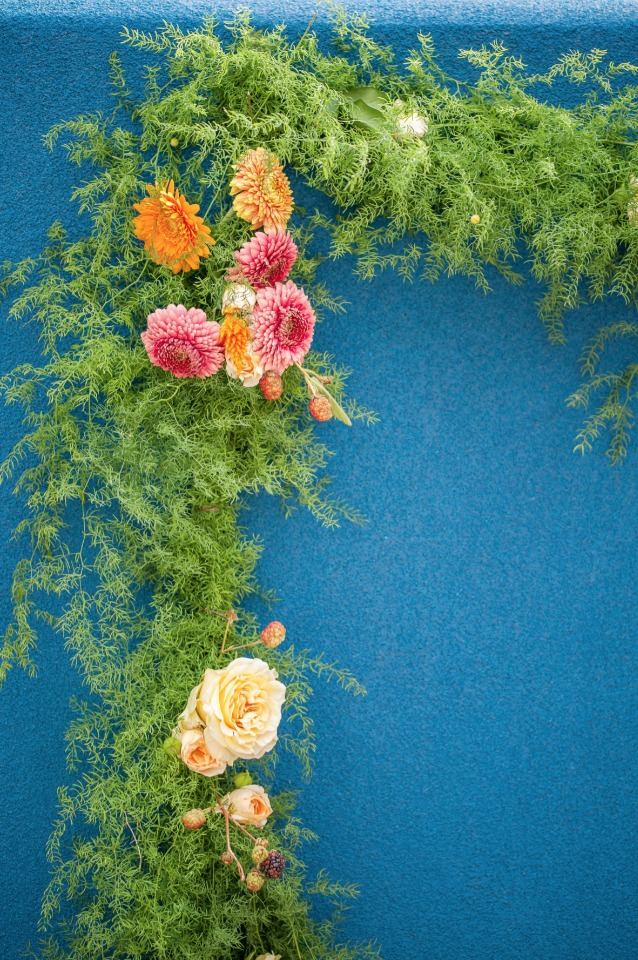 organic wedding floral garland