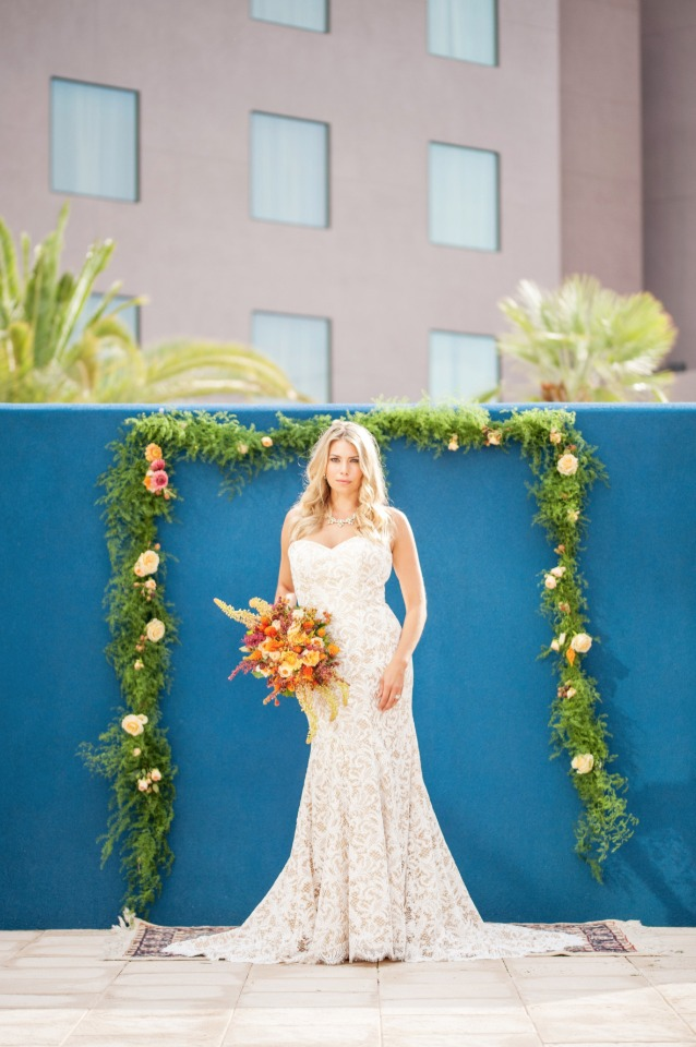 modern boho wedding ceremony decor