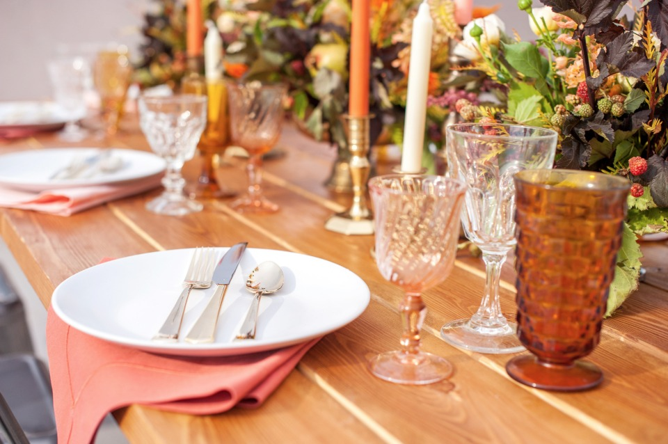 autumn wedding table decor