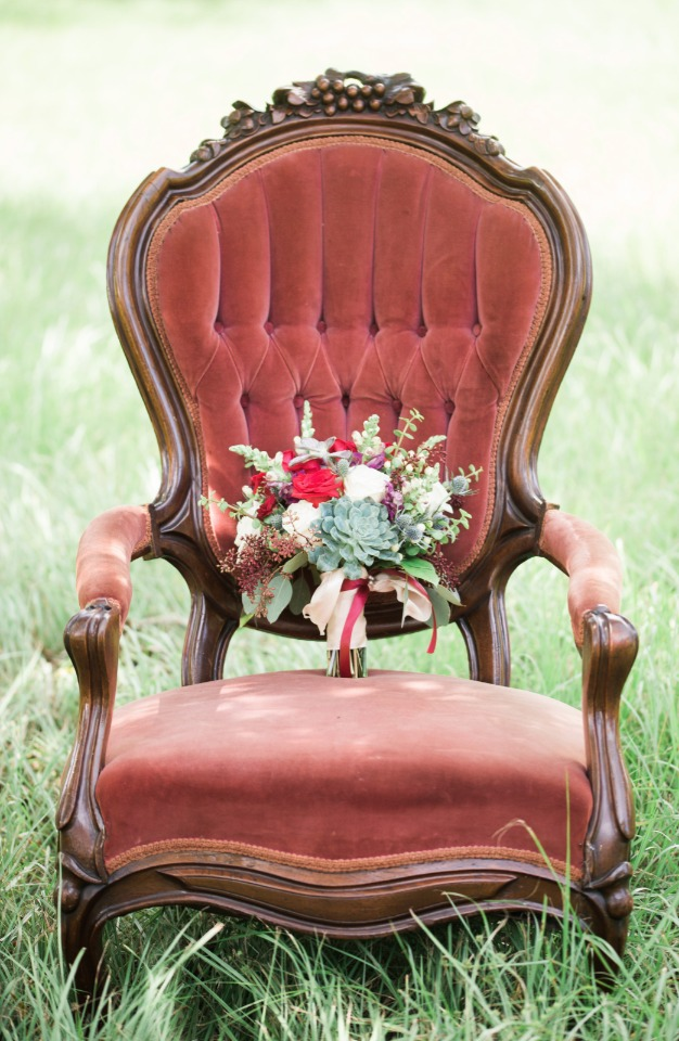 vintage furniture for just the right feel for your big day