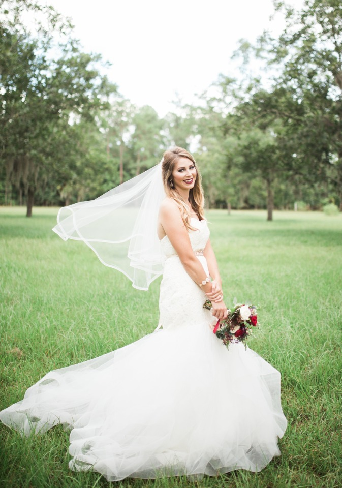 mermaid style wedding dress from The White Magnolia Bridal Collection