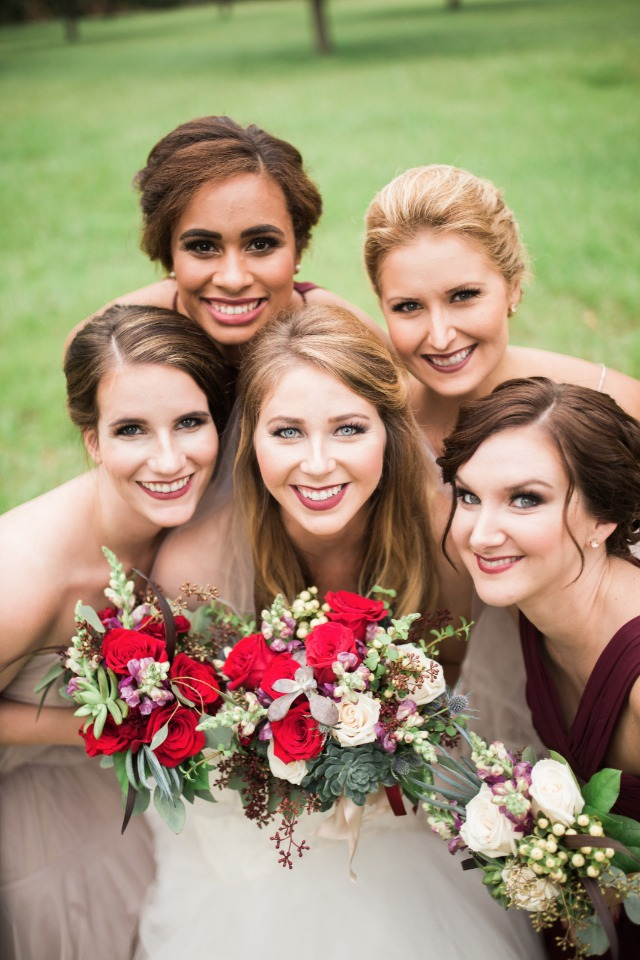 cute bridal party photo