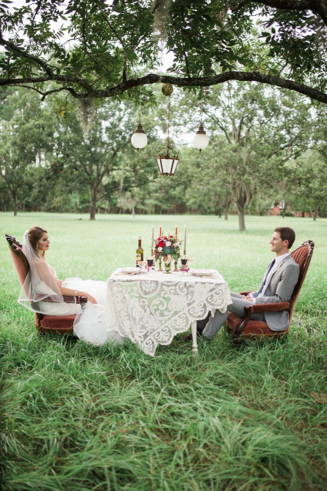 sweet and private sweetheart table