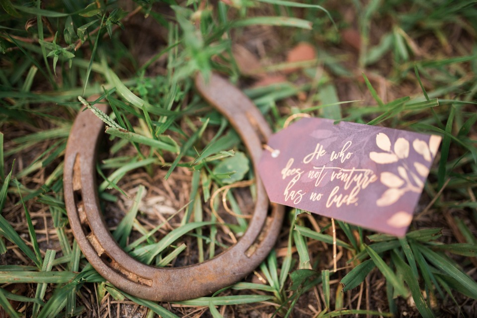 a lucky horseshoe wedding favor