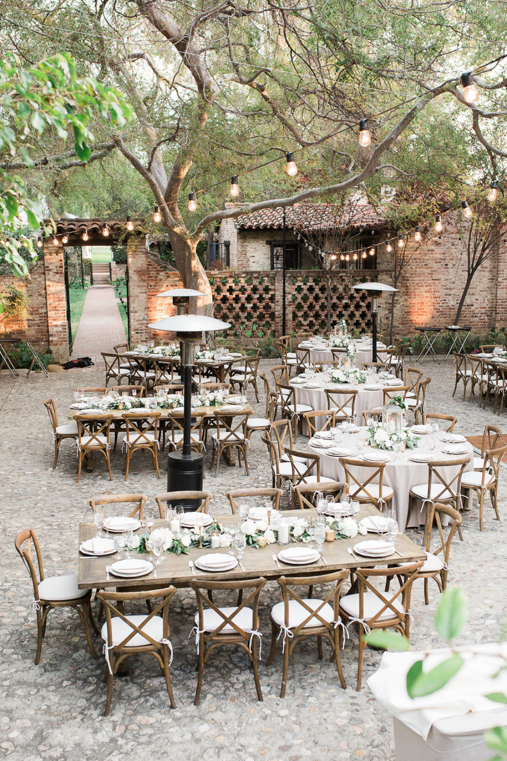 beautiful outdoor brick wedding reception venue