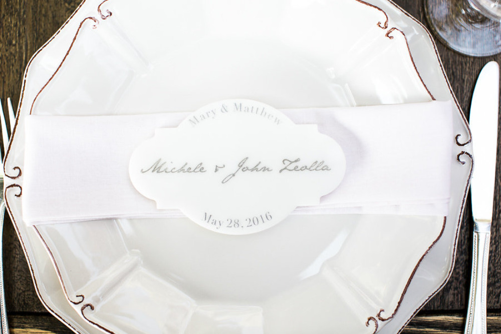 fancy wedding place cards