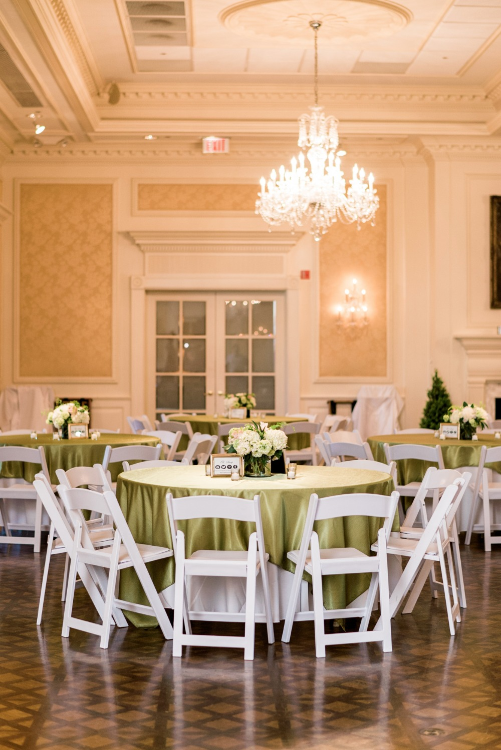 White and green reception