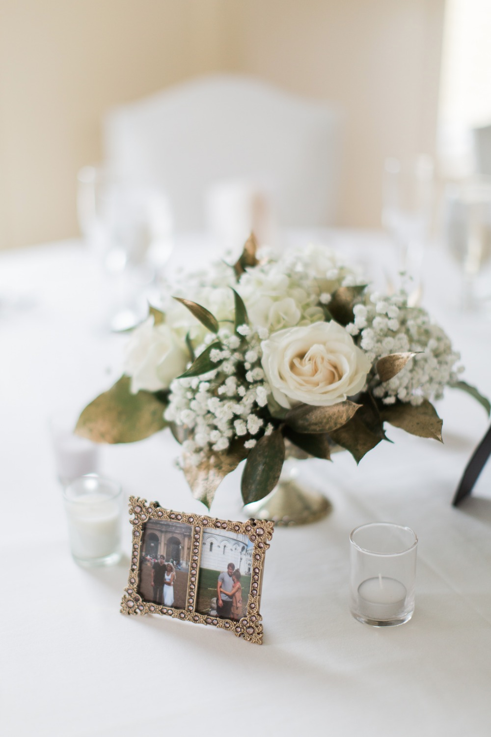 Picture and floral centerpiece