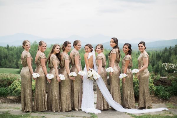 Natural Glam White and Gold Wedding