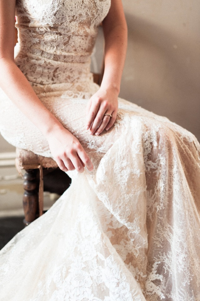 lace overlay Pronovias gown