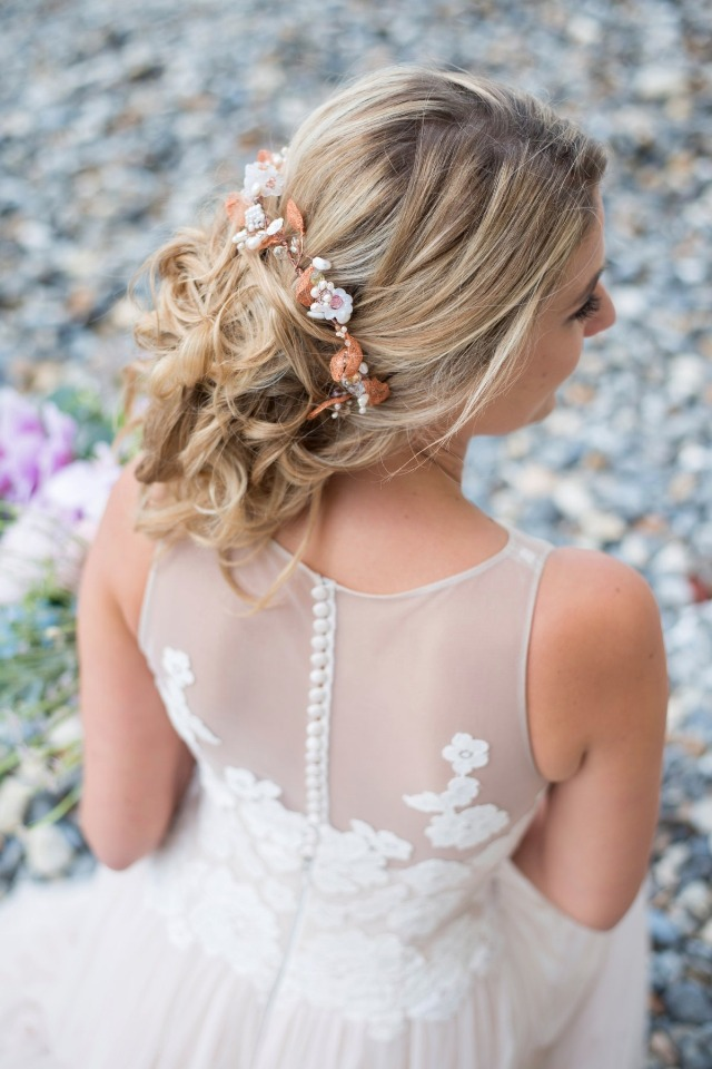 organic and loose wedding updo