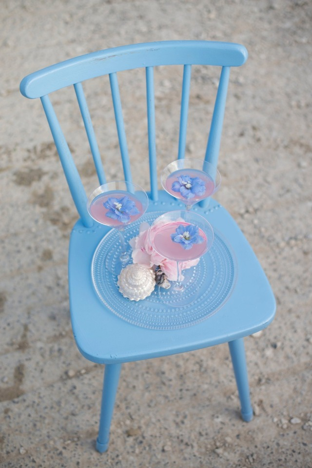 soft blue wedding chair