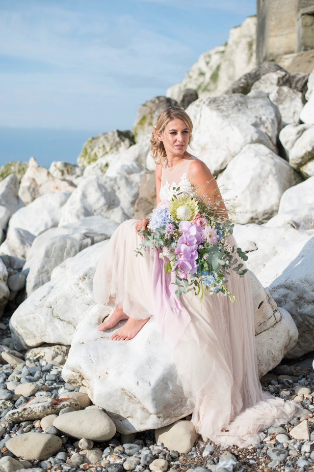 blush bridal dress by Enzoani