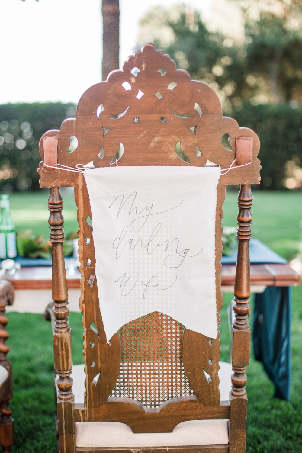 Calligraphy chair banner