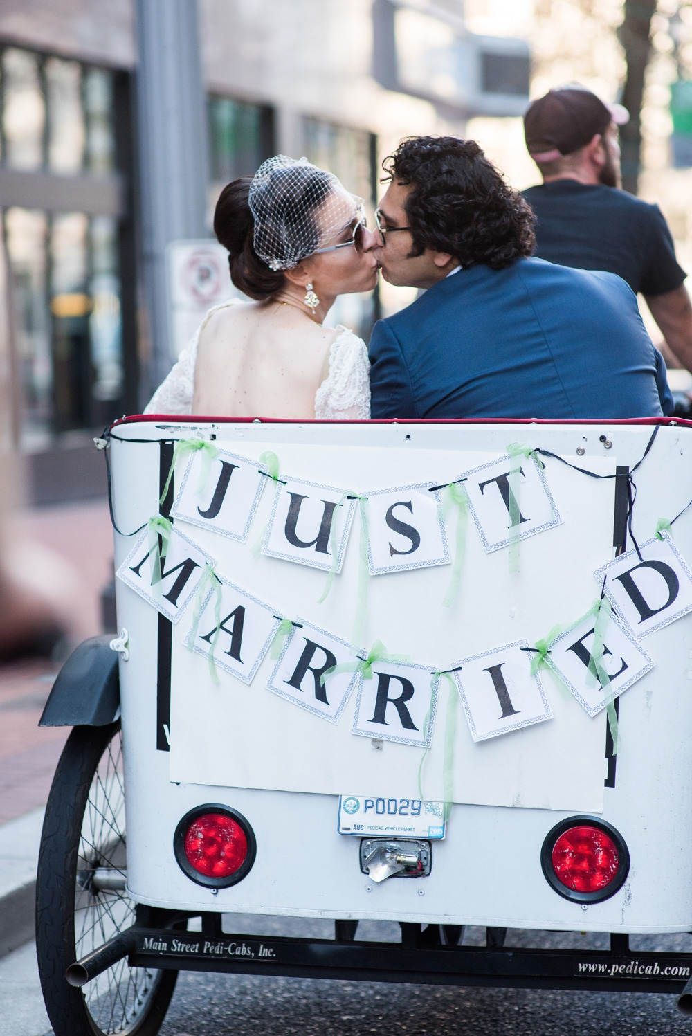 just married pedicab transportation