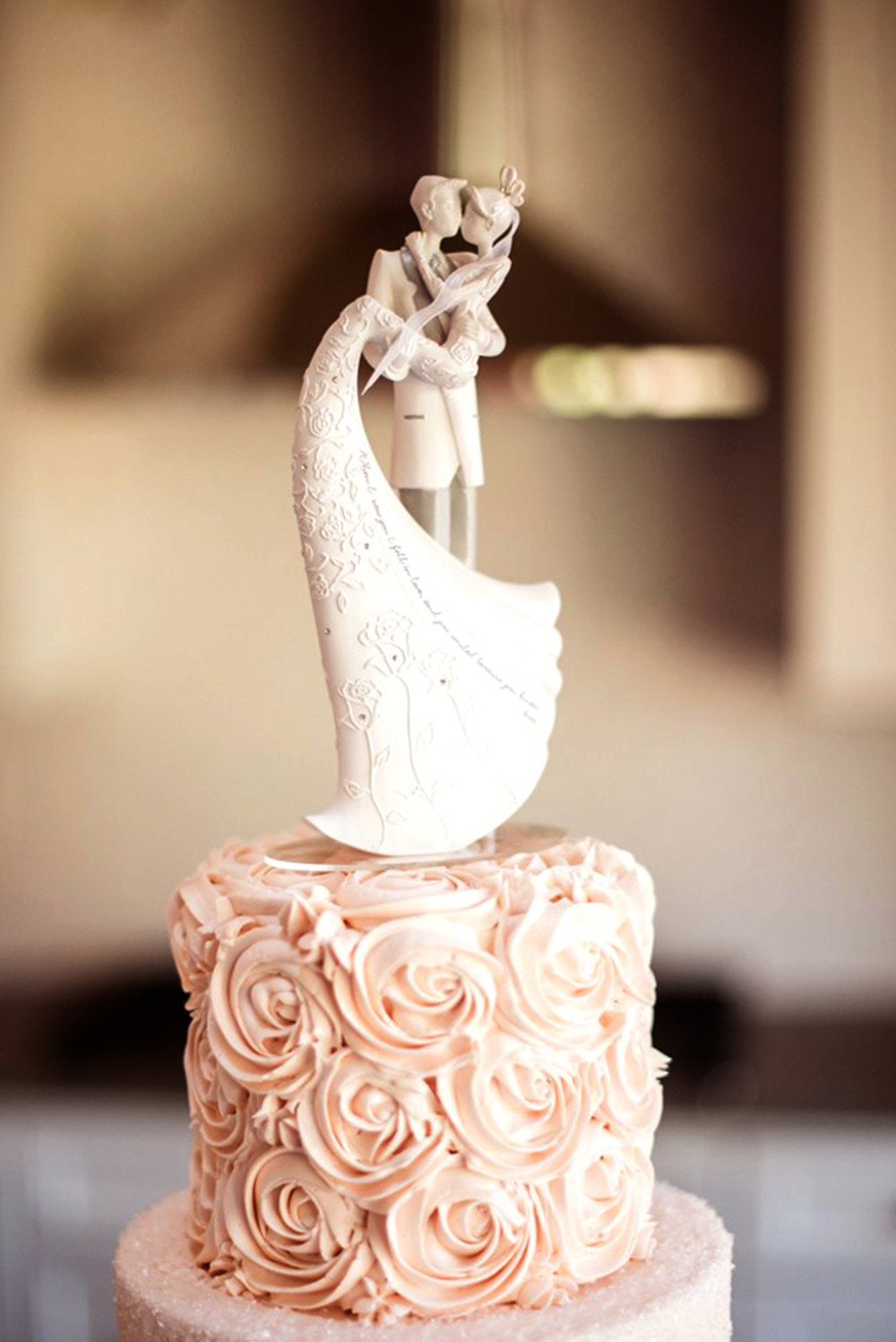 cute wedding cake topper figurine