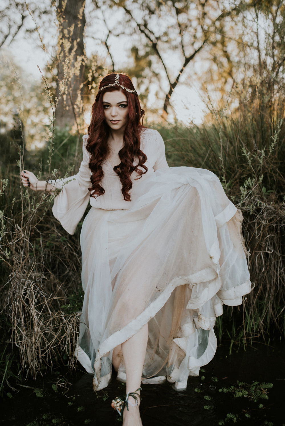 gorgeos boho bridal look