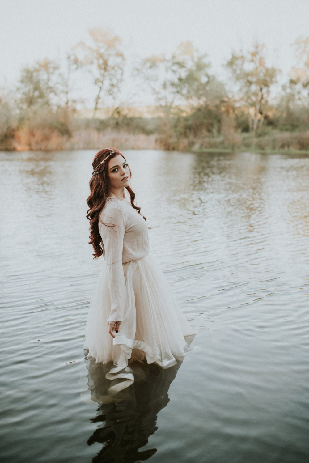 wedding photography in the river