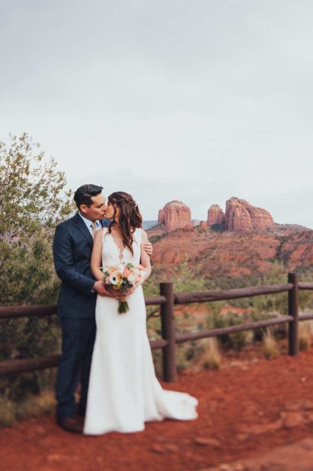 Arizona wedding couple just married