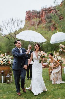 Red Rocks In The Rain Wedding