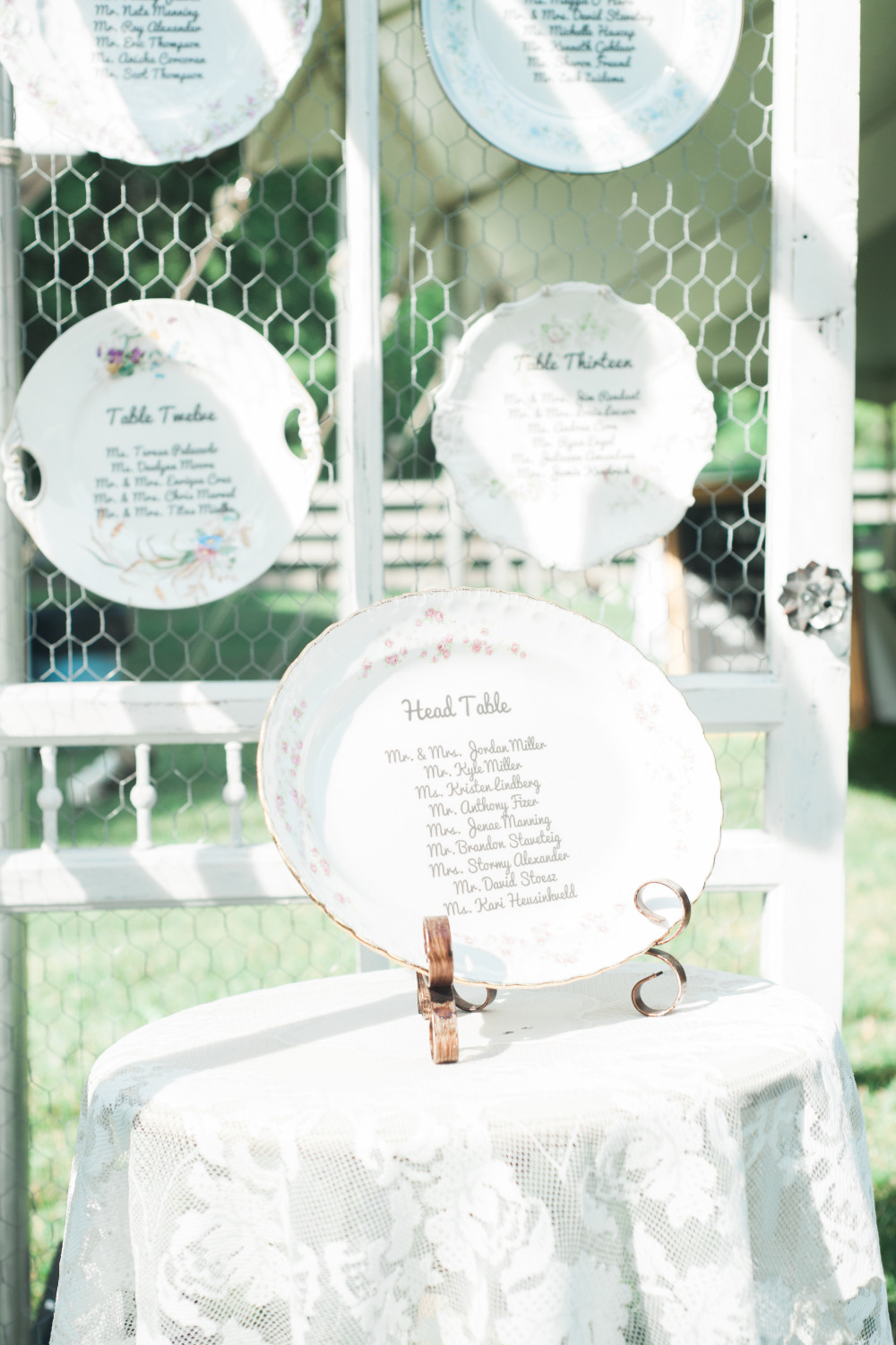 vintage china seating chart idea