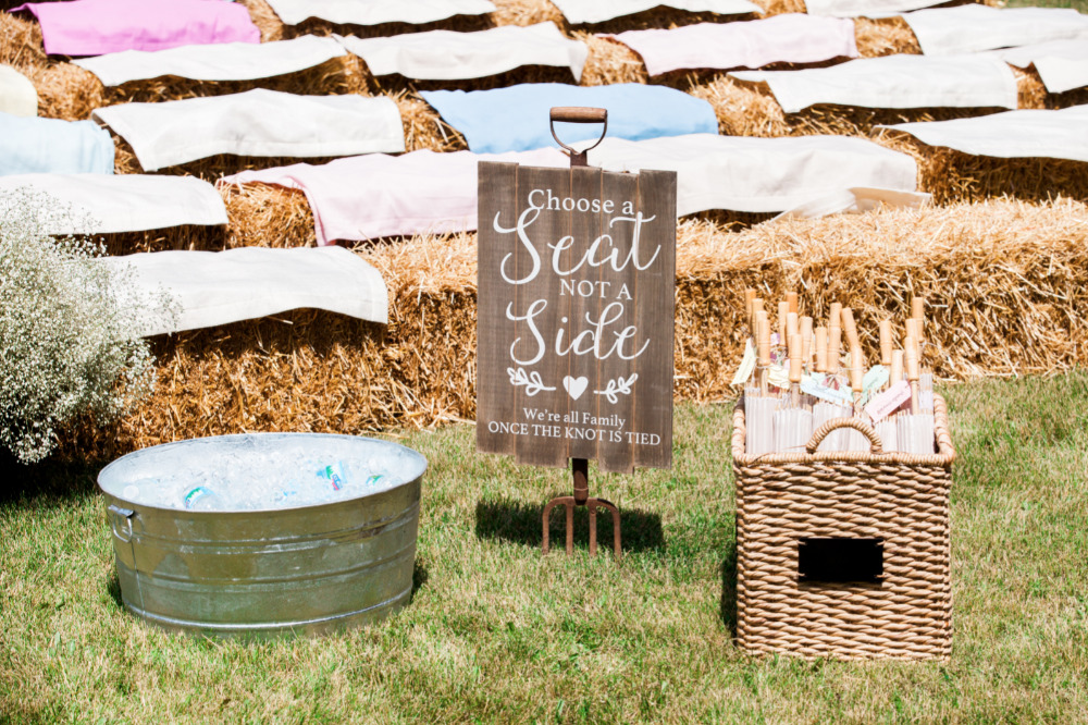 choose a seat not a side wedding ceremony sign