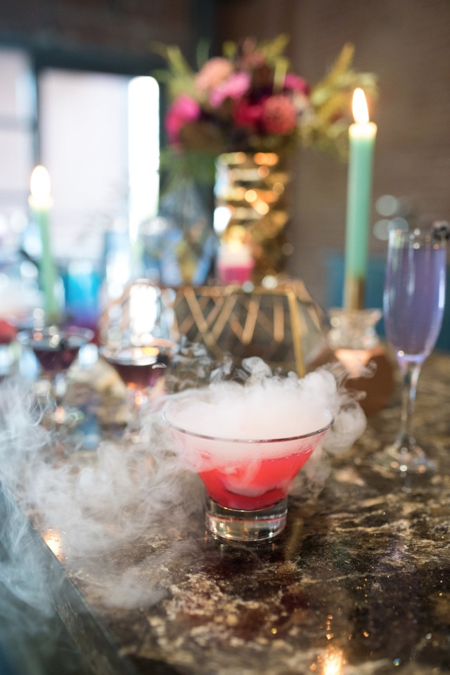 smoking wedding cocktail