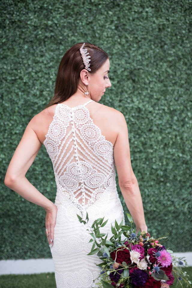 unique wedding dress with modern back style