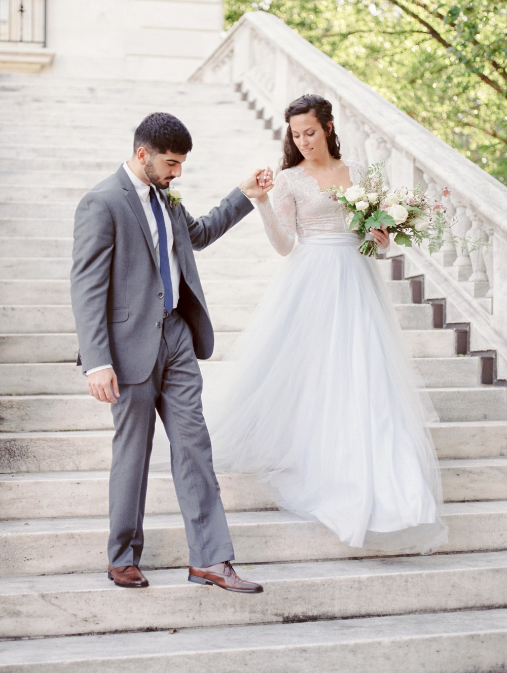 Gorgeous bride and groom fashion